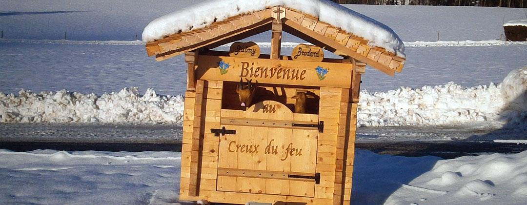 Buvette de montagne Au Creux du feu. Pays de Fribourg en Gruyère